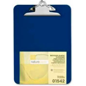 "Nature Saver® Recycled Plastic Clipboard, 9"" x 12-1/2"", Blue"