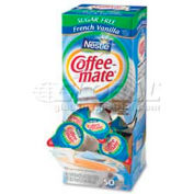 Nestle® Coffee-Mate Non-Dairy Liquid Creamer Single, Sugar Free Fr Vanilla, 0.375 oz., 50/Box