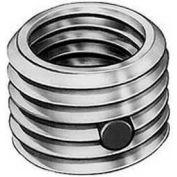 Re-Nu Thread™ Insert W/Nylon Patch 1/4-28 Internal x 3/8-24 External Thread, Stainless Steel