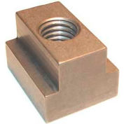 """Made in USA Standard T-Slot Nut 3/4-10 Thread For 13/16"""" Slot, 1"""" Nut Width, Stainless Steel"""