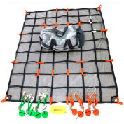 "Ultimate Truck Cargo Net Tie Down Kit W/ Debris Liner, 83"" x 65"" - UTDK-8365-DL"