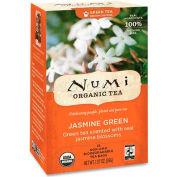 Numi Organic Tea Green Tea, Jasmine Green, Single Cup Bags, 18/Box