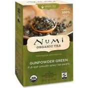 Numi Organic Tea Green Tea, Gunpowder Green, Single Cup Bags, 18/Box