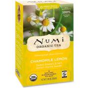 Numi Organic Tea Herbal Tea, Chamomile Lemon, Single Cup Bags, 18/Box