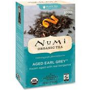 Numi Organic Tea Black Tea, Aged Earl Grey, Single Cup Bags, 18/Box