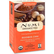 Numi® Organic Tea Herbal Tea, Rooibos Chai, Single Cup Bags, 18/Box
