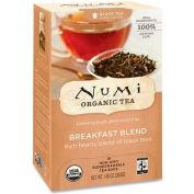 Numi Organic Tea Black Tea, Breakfast Blend, Single Cup Bags, 18/Box