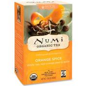 Numi Organic Tea White Tea, Orange Spice, Single Cup Bags, 16/Box