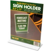"""Nu-Dell T-Frame Standing Sign Holder  3-3/8"""" x 11-1/2"""" Clear"""