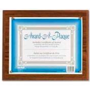 "Nu-Dell Award-A-Plaque, Wall Mountable, Horizontal/Vertical, 13"" x 10-1/2"", Oak"