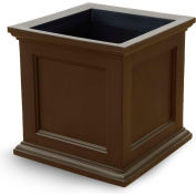 "Oxford 28"" Square Commercial Planter, Espresso"