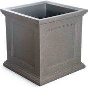 "Oxford 28"" Square Commercial Planter, Sandstone"