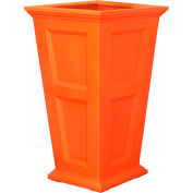 "Oxford 40"" Tall Commercial Planter, Coral Orange"