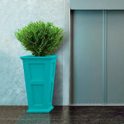 "Oxford 40"" Tall Commercial Planter, Ocean Blue"