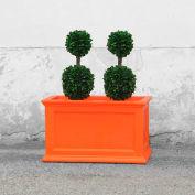 Oxford 20x36 Rectangle Commercial Planter, Coral Orange