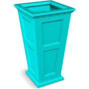"""Oxford 28"""" Tall Commercial Planter, Ocean Blue"""