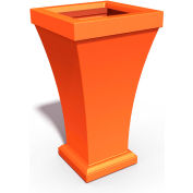"Bordeaux 28"" Tall Commercial Planter, Coral Orange"