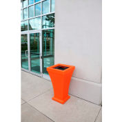 Bordeaux 24 Gallon Commercial Waste Bin, Coral Orange - 8866-CO