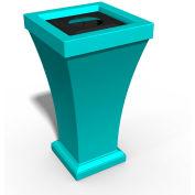 Bordeaux 24 Gallon Commercial Waste Bin, Ocean Blue - 8866-OB