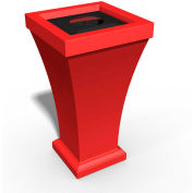 Bordeaux 24 Gallon Commercial Waste Bin, Poppy Red - 8866-PR