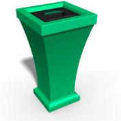 Bordeaux 24 Gallon Commercial Waste Bin, Spring Green - 8866-SP