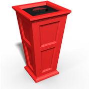 Oxford 24 Gallon Commercial Waste Bin, Poppy Red - 8874-PR