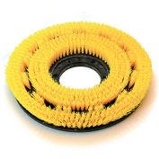 "O-Cedar Commercial 12"" MaxiPlus® .020"" Rotary Scrub Brush, Soft Yellow Poly - 60512"