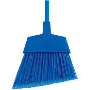 "O-Cedar Commercial MaxiClean Large Angle Broom Flagged, Blue 48"" Metal Handle 6/Case - 6401-6 - Pkg Qty 6"