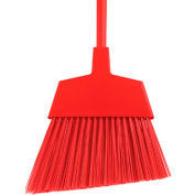 """O-Cedar Commercial MaxiClean Large Angle Broom Unflagged, Red 48"""" Metal Handle 6/Case - 6403-6 - Pkg Qty 6"""