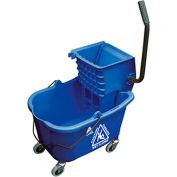 O-Cedar Commercial MaxiRough® Mop Bucket & Wringer, Blue 1/Case - 6975