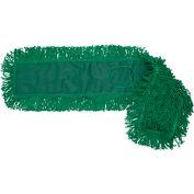 "O-Cedar Commercial 24"" MaxiDust™ Loop-End Dust Mop, Green 12/Case - 96928 - Pkg Qty 12"