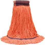 """O-Cedar Commercial Small Healthi-Pro™ Anti-Microbial Loop-End Mop 5"""" Band, Orange 6/Case-97231 - Pkg Qty 6"""
