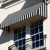 Awntech RN22-3KW, Window/Entry Awning 3-3/8'W x 2-9/16'H x 2'D Black/White