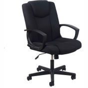 Essentials by OFM ESS-3080 Mid-Back Swivel Upholstered Task Chair, Black
