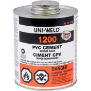 Oatey 1224 1200 Series PVC Medium Clear Cement Gallon - Pkg Qty 6