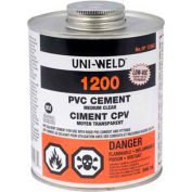 Oatey 1266S 1200 Series PVC Medium Clear Cement 4 oz. - Pkg Qty 24