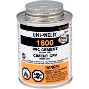 Oatey 1666S 1600 Series PVC Medium Gray Cement 4 oz. - Pkg Qty 24