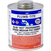 "Oatey 2066S 2000 Series Plumb-Tite PVC Medium ""Hot"" Blue Cement 4 oz. - Pkg Qty 24"