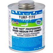 "Oatey 2424 2400 Series Turf-Tite PVC Medium ""Hot"" Blue Cement 1 Gallon - Pkg Qty 6"