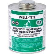 "Oatey 3046S 3000 Series Well-Tite Pvc Medium ""Hot"" Blue Cement 16 oz. - Pkg Qty 24"