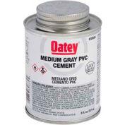 Oatey 30884 PVC Medium Gray Cement 8 oz. - Pkg Qty 24