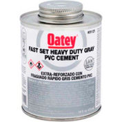 Oatey 31123 PVC Heavy Duty Gray Fast Set Cement - Wide Mouth Can 1 Gallon - Pkg Qty 6