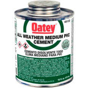 Oatey 31135 PVC All Weather Clear Cement - Wide Mouth Can 1 Gallon - Pkg Qty 6
