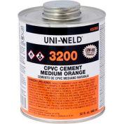 Oatey 3256S 3200 Series CPVC Medium Orange Cement 8 oz. - Pkg Qty 24