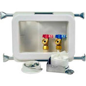 Oatey 38471 Fire Rated Washing Machine Outlet Box 1/4 Turn, CPVC