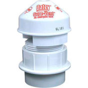 "Oatey 39225 Sure-Vent Air Admittance Valve 6 DFU Capacity 1-1/2"" Tubular Adapter White - Pkg Qty 6"