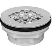 """Oatey 42075 2"""" 101 PNC Series PVC No-Calk Shower Drain w/ Plastic Strainer - Pkg Qty 12"""