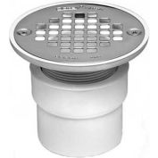 """Oatey 42236 2"""" - 3"""" ABS Drain with Round Stainless Steel Screw-Tite Strainer - Pkg Qty 20"""