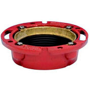 "Oatey 42256 4"" 165 CI TC Cast Iron Flange w/ Test Cap - Pkg Qty 6"