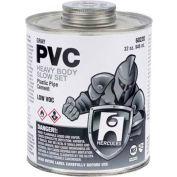 Hercules 60220 PVC - Gray, Heavy Body, Slow Set Cement - Jumbo Dauber In Cap 32 oz. - Pkg Qty 12